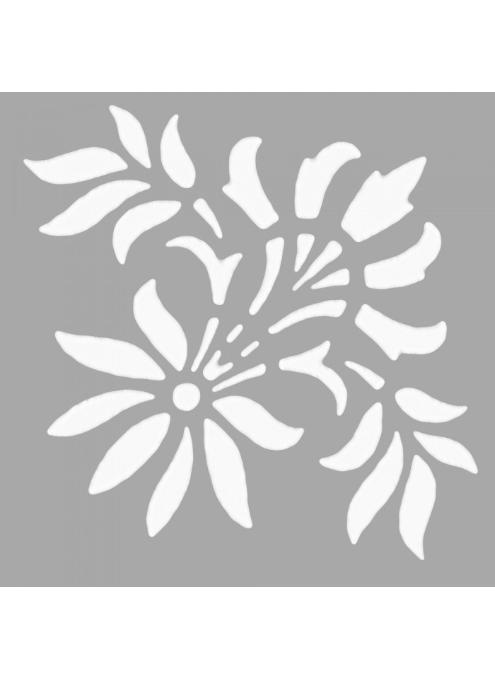Standart Artikel Emilia Çiçek Motif Stencil Tasarımı 30 x cm